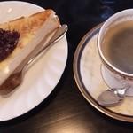 珈琲屋 らんぷ - モーニング あんトーストに変更