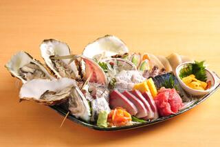 渋谷イカセンター - 今朝獲れ地魚刺盛り