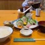 魚佐 - お刺身盛り合わせ定食 2,060円