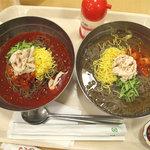 ビビン亭 ゆめタウン久留米店 - フードコートで冷麺とタコ焼きランチ。ブログテーマからすると、麺>タコ焼きなんで、麺優先レビューです。