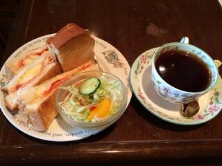 珈琲の森 - ミックスサンドセット420円(税込)