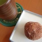 うさぎや菓子舗 - シナモンドーナツ;煎茶(静岡産:茎茶)で.渋めに淹れるが吉(^^)v @2015/06/07