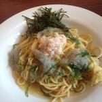 グラッチェガーデンズ - 料理写真:冷製生しらすとズワイガニの和風スパゲッティしょうが添え