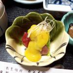 立花 - ぬた(赤身の辛子酢味噌和え)。甘酸っぱくて爽やかな一品