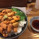 玉ねぎ屋 - 大盛り1600円  ウニが・・・
