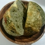 38781428 - ほうれん草チーズベーグル
