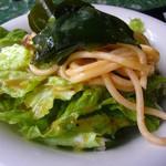 38781538 - 野菜サラダ・スパゲティ