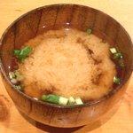 38782617 - チキンカツカレー 500円 の味噌汁