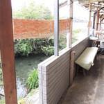 池内うどん店 - お店の裏は川?か池