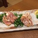 とりとり亭 - 地鶏のお刺身