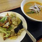 味源 - ラーメンセット800円(担々麺+回鍋肉丼)