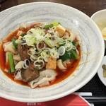 上海酒家 - スープなし激辛牛肉ベルト麺 ¥780