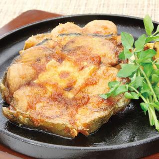 魚菜 日本橋亭 - まぐろ特大テールステーキ980円