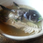漁師料理十次郎 - あら汁 塩味です