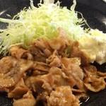 定食 稲 - 豚生姜焼き定食