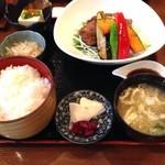 かどい - 鯖の竜田揚げ定食