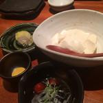 38815070 - ざる豆腐、辛子醤油で