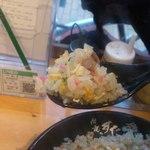 伝説のすた丼屋 - パサパサしてて美味しい 色彩もいいですね