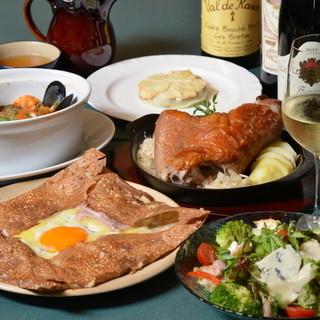フランス郷土料理とワイン
