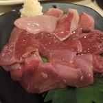 38821174 - 愛知赤鶏のレバー刺し