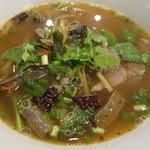 はすの里 - トムサップ(もつのハーブスープを牛肉で)