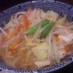久臨 - 野菜つけ麺(中盛)860円