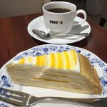 ドトールコーヒーショップ - マンゴーミルクレープセット(550円)