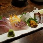 海鮮食道 十八番 - 料理写真:(2015/5月)「刺身盛合せ」