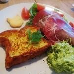 KISSA - 料理写真:生ハムとアボカドディップのフレンチトースト