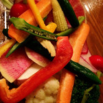 38829071 - 生野菜スティック バーニャカウダソース                       大豆感すごいソース、初めて。濃厚で美味でした。