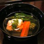お料理 ほし - 【椀盛:海老と浅利のしんじょう】♪2010/5