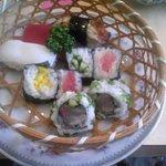 たから洲 - 天ぷらセットのお寿司