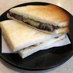 むらやま - 小倉チーズトーストセット(\700、2015年4月)