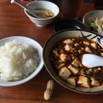 38832498 - 麻婆豆腐は丼での提供。