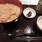 鶏縁 - ランチの炙り親子丼セット