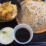もりそば大盛り、ミニ天丼(400円+210260円+210260円)。