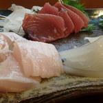 竹寿司 - 鮃、初鰹、神津の赤烏賊、瀬戸内の墨烏賊