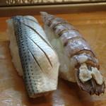 竹寿司 - 小肌と蝦蛄 蝦蛄は愛知県蒲郡