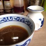 裏サブロン - 割りスープと食後のつけ汁