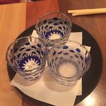 38843192 - 日本酒飲み比べセット 800円