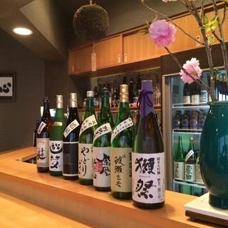 こだわりの日本酒を目の前で