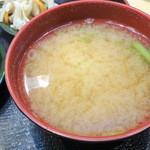 刺身屋新太郎 - 【2015年6月再訪】味噌汁