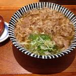 増田うどん - 肉うどん750円