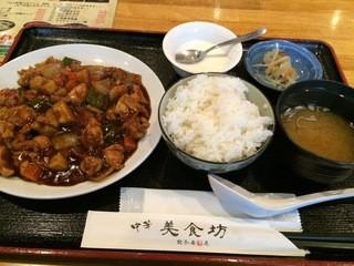 中華美食坊 田無南口店 - 鶏の味噌炒め定食。