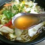 3885972 - 野菜ラーメンのスープ