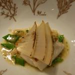 モナリザ - 【夏の園遊会(笑)】タケノコをまとった真鯛のポワレ ブールブランソース