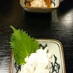 黄月 - 料理写真:サワラ白子♡ほっき貝サラダ♡