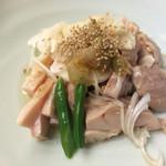 38856094 - 蒸し鶏ネギ油かけ定食