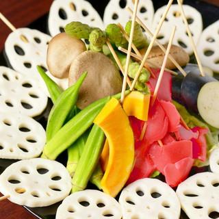 ★野菜の串メニューも充実しております★