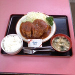 安国屋 - 安岡屋(栃木県日光市手岡)ポークステーキ定食1500円